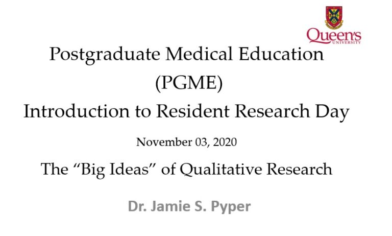 PGME 2020 Resident Research Day